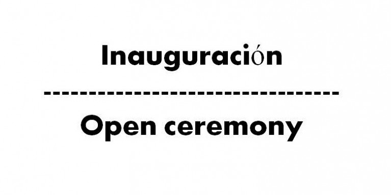 Open ceremony Alhambra Competition 2018